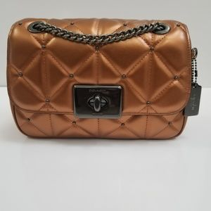 Coach Cassidy Crossbody Quilted Studded Handbag